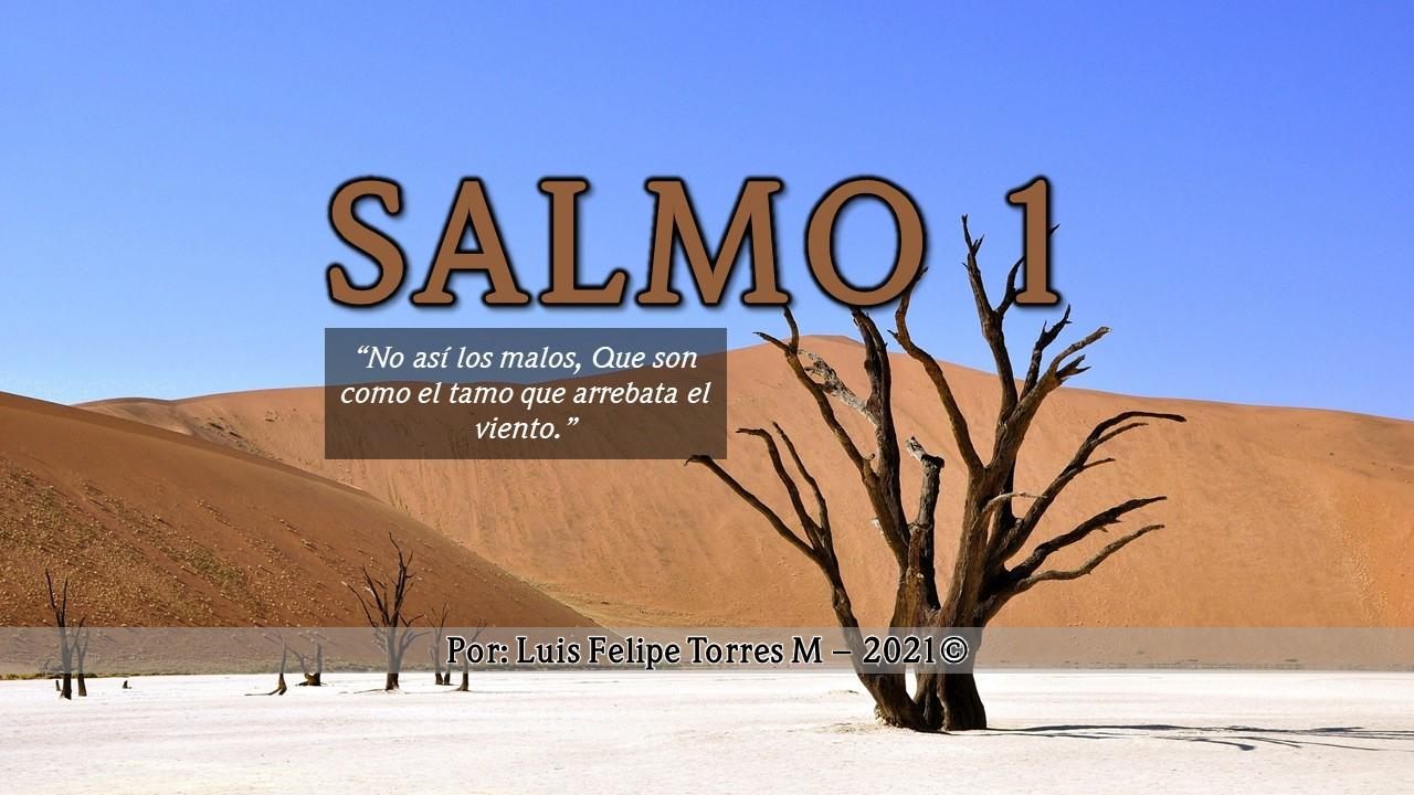 """Salmo 1 – """"No así los malos, Que son como el tamo que arrebata el viento."""""""